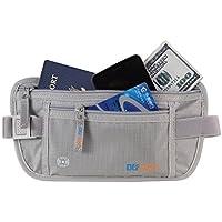 DEFWAY パスポート ウエストバッグ 防水 貴重品入れ 腹巻 多機能ウエストポーチ 旅行グッズ スキミング防止 収納バッグ 軽量 大容量 ブラック