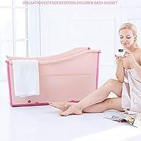 子供の大きな子供大人の浴槽の浴槽家庭用プラスチック折り畳み式浴槽,Pink