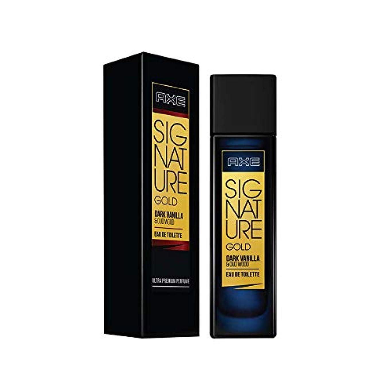 葉を集めるにはまって著作権AXE Signature Gold Dark Vanilla and Oud Wood Perfume, 80ml