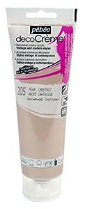 クリーミーなアクリルペイント「ペベオデコクリーム」。 様々支持体に使用可能で、ヴィンテージ調からモダンスタイルまでお好みに合わせて仕上げることができます。 ■容量:120mlチューブ [特徴] ・水性無害・全色不透明 ・ワンコート(一度塗り)でキレイな仕上り ・塗布・自然乾燥後、サンドペーパーで磨くとヴィンテージスタイルに ・高顔料濃度&優れた耐光性 [仕様] 用途(塗布可能な支持体):木、金属、テラコッタ、ガラス、石、紙、家具など 塗布可能面積:約1平方メートル/120mlチューブあたり 乾燥...