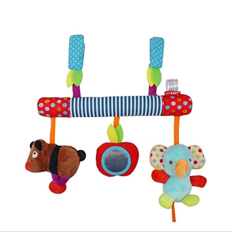 エレガントで魅力的な赤ちゃんのおもちゃ 多機能 赤ちゃん用 子供用 車 プラム ハンギングトイ 可愛い動物 音楽のベビーベッド ぬいぐるみ 赤ちゃんへのギフト LXY-20180827-WJ-lidanA192