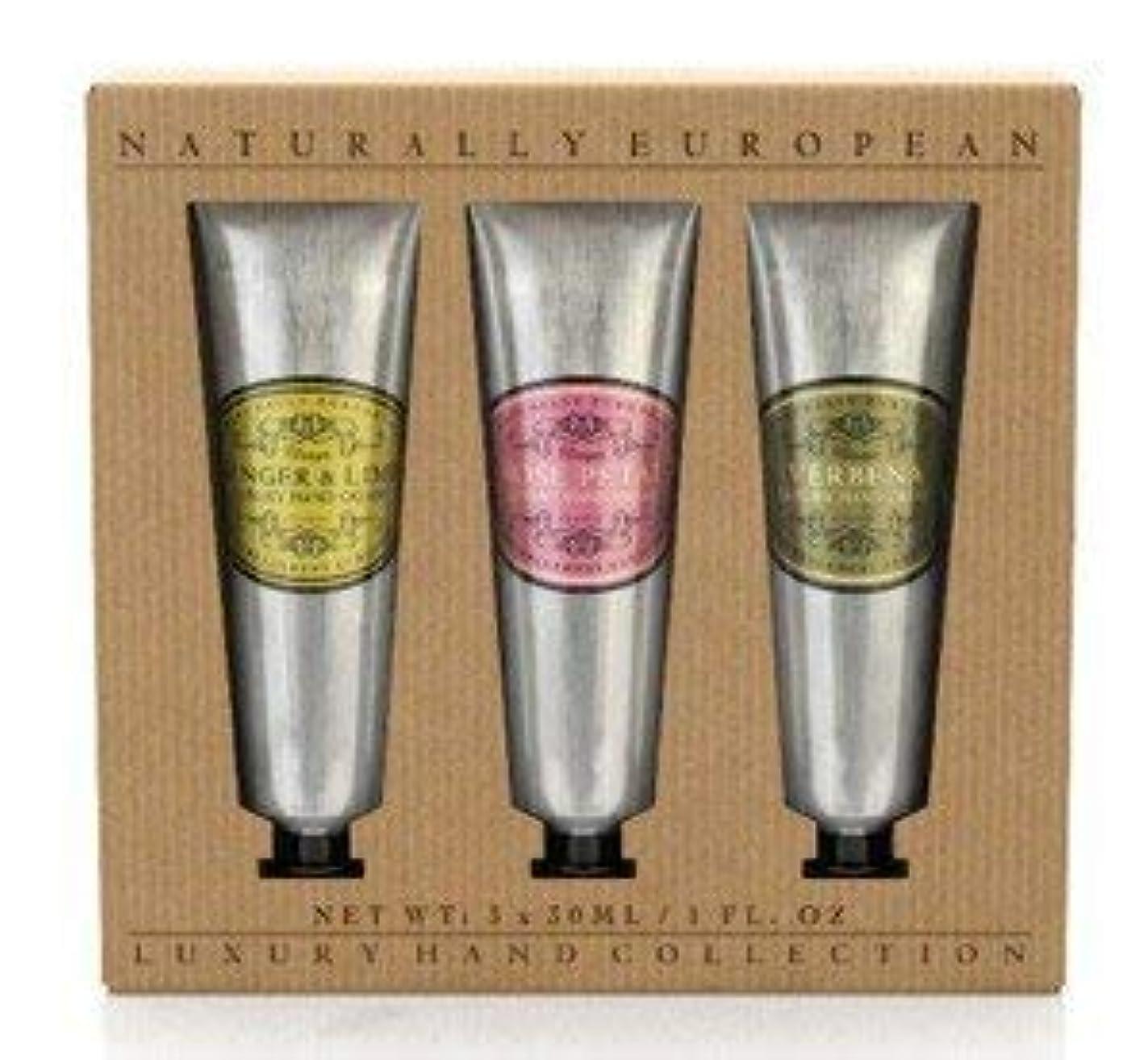 素晴らしさ池氷Naturally European Hand Cream Collection Gift Set 3 x 30ml [並行輸入品]