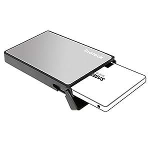 [USB 3.0 & SSDに最適化、工具不要]Inateck 2.5型 USB 3.0 HDDケース外付け 2.5インチ厚さ9.5mm/7mmのSATA-I, SATA-II, SATA-III, SATA HDD/SSDに対応、着脱は工具不要、UASPサポート【カラー:シルバー】