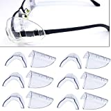 Sporting Style 6 Pairs Safety Eye Glasses Side Shields, Slip On Clear Side Shield for Safety Glasses- Fits Most Eyeglasses(M-L)
