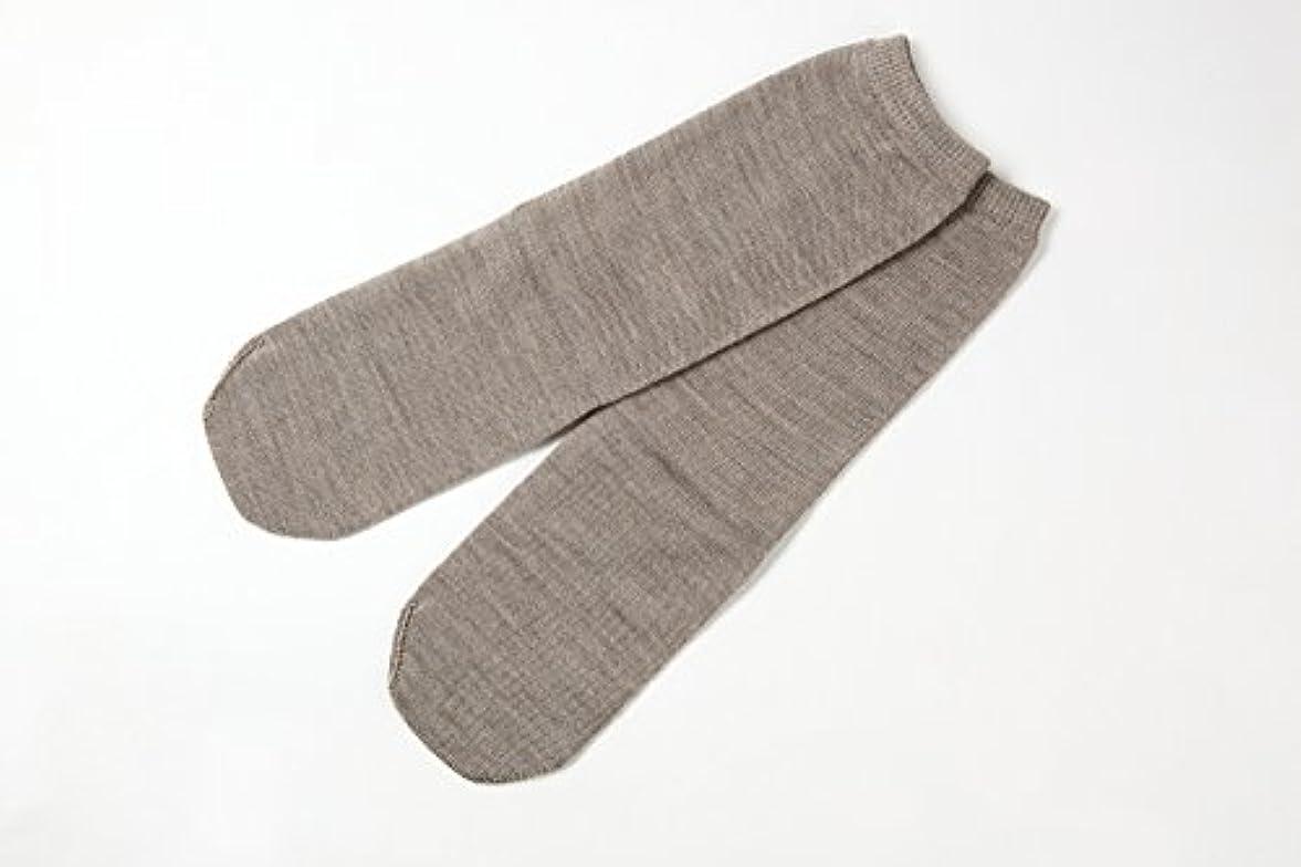 通りマットレス誇りに思う冷え取り靴下 ウール100%先丸ソックス カラー (杢ベージュ)