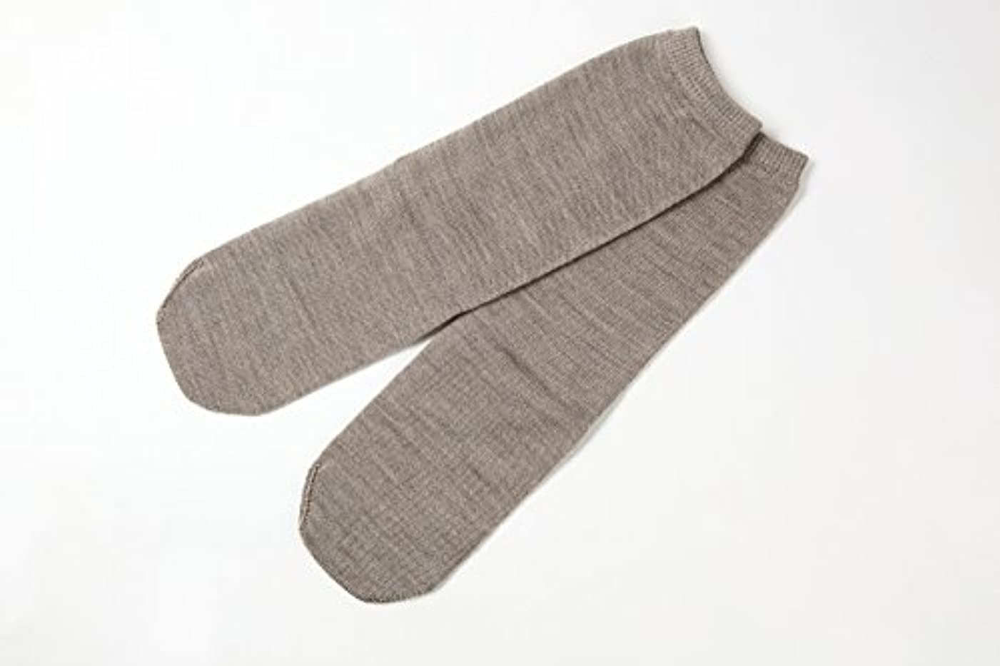 致命的なすべき肥満冷え取り靴下 ウール100%先丸ソックス カラー (杢ベージュ)