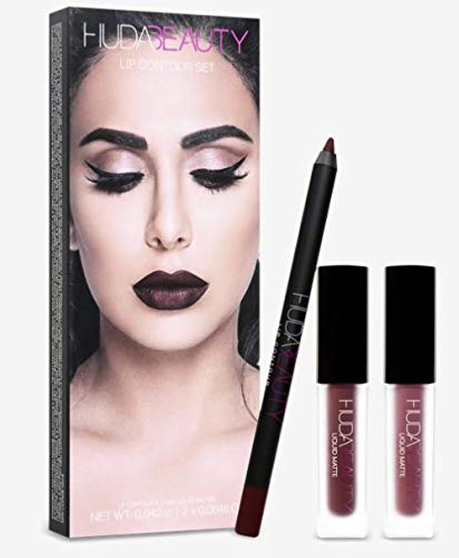 債務販売計画ブリードHudabeauty Lip Contour Set Vixen and Famous リップセット マットリップ