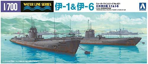1/700 ウォーターライン No.431 潜水艦 伊1&伊6