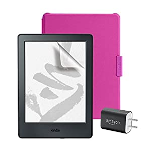 スターターセット (Amazon純正 Kindle用保護カバー マゼンタ + 保護フィルム + Amazon 5W USB 充電器 )