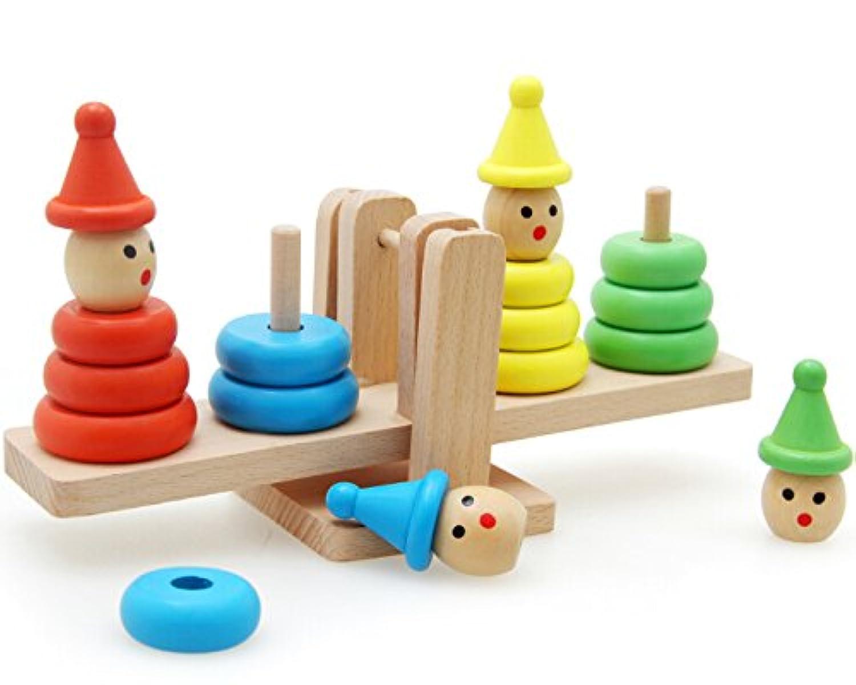 hsomid木製バランススケールウェイトマシンKid幼児教育おもちゃ