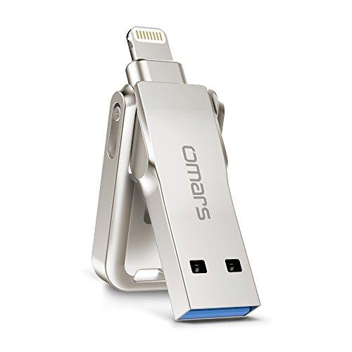 Omars Apple認証 (MFI取得) ロボットフラッシュドライブ USBメモリコネクタ付きiPhone iPad iPod touchの容量不足解消 (128G銃カラー) iPod touchの容量不足解消 (128G銃カラー)