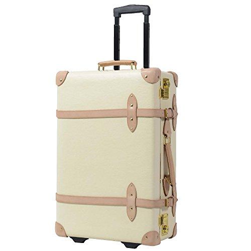 M型 アイボリー / [グリフィンランド]_Griffinland TSAロック搭載 スーツケース おしゃれ 超軽量 かわいい トランクケース Premiumショコラ 【アンティーク調】