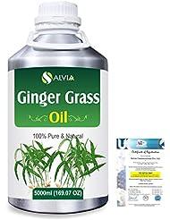 Ginger grass (Cymbopogon martini! var sofia)100% Natural Pure Essential Oil 5000ml/169fl.oz.