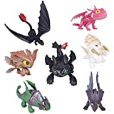Max Fun 7 Pcs How to Train Your Dragon Action Figures Night Fury Toothless Kids Toys Cake Toppers