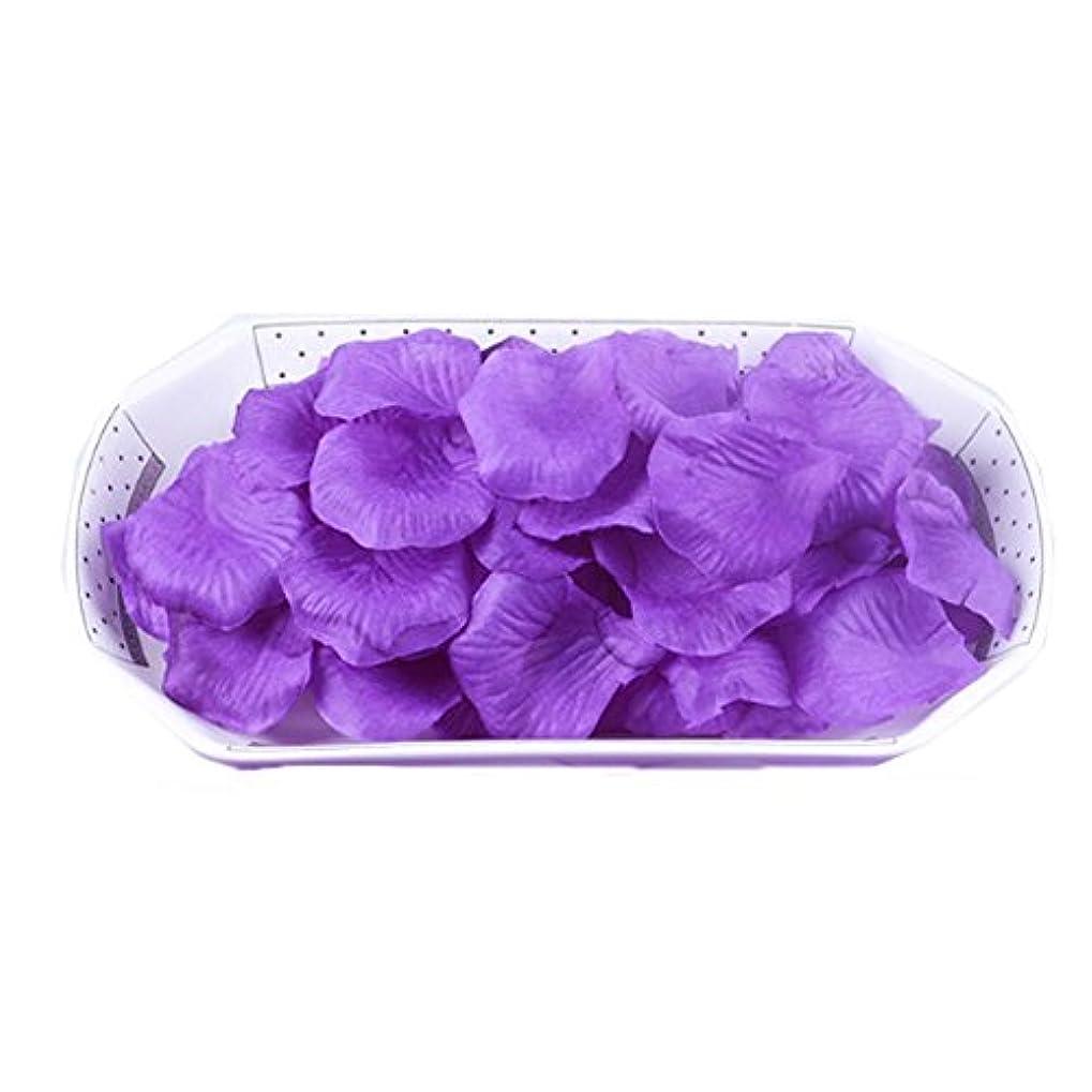 登る支払うくるくる結婚式の装飾のための人工花の花びら紫2000 PC