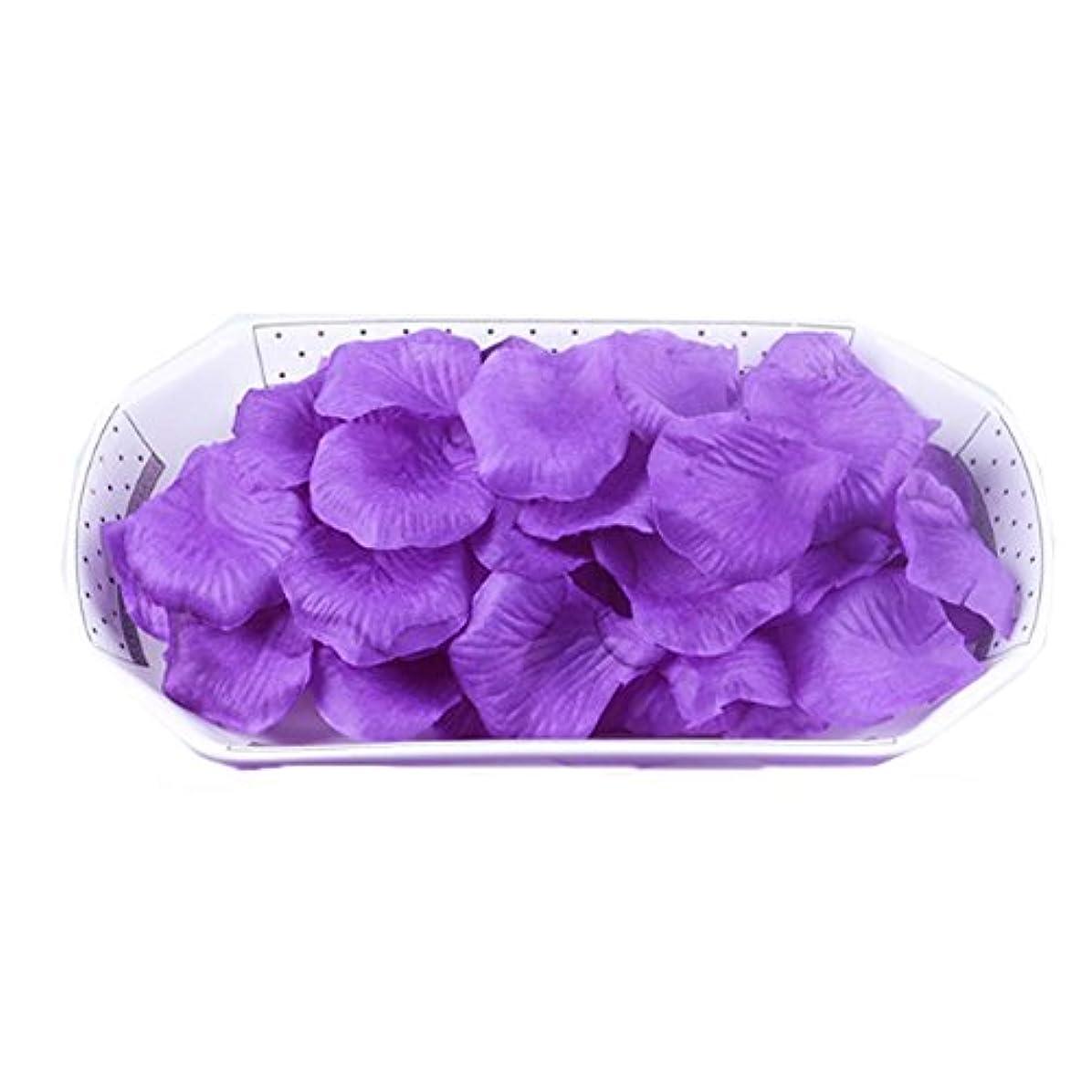 不承認堤防スリップシューズ結婚式の装飾のための人工花の花びら紫2000 PC