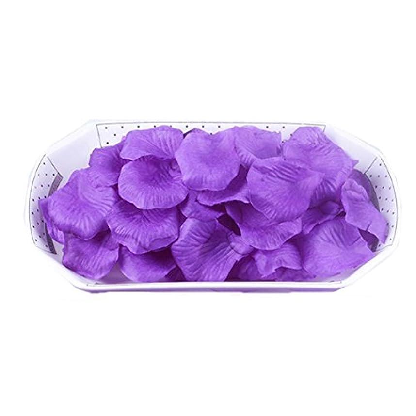 時系列フクロウアパル結婚式の装飾のための人工花の花びら紫2000 PC