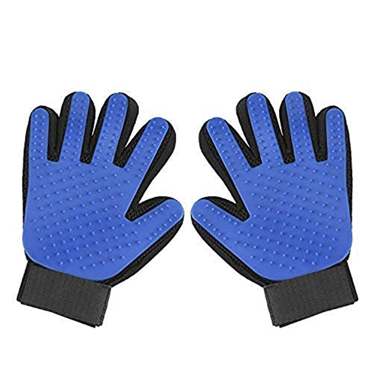 キノコメロディアス国際ペットグルーミンググローブ-ペットヘアリムーバー両面手袋シリコーン5本指マッサージブラシ-動物の美しさ脱毛器-猫と犬のためのロングとショート毛皮のために適しています (1 ペア)