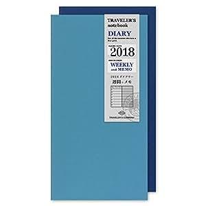 トラベラーズノート 手帳 リフィル 2018年 1月始まり ウィークリー A5スリム 14385006