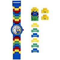 LEGO Classic 8020189 Kids Minifigure Link Buildable Watch | black/yellow | plastic | 25mm case diameter | analogue quartz | boy girl | official