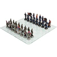 Yankee North Vs Rebel South Civil War Chess Set with Glass Board 17