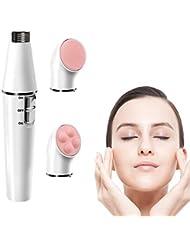 女性のための顔の脱毛剤、ホワイト/ブロンズ - 自宅でサロンの美しさのための3-1 - 顔の脱毛、クレンジング&スキントーニングシステム