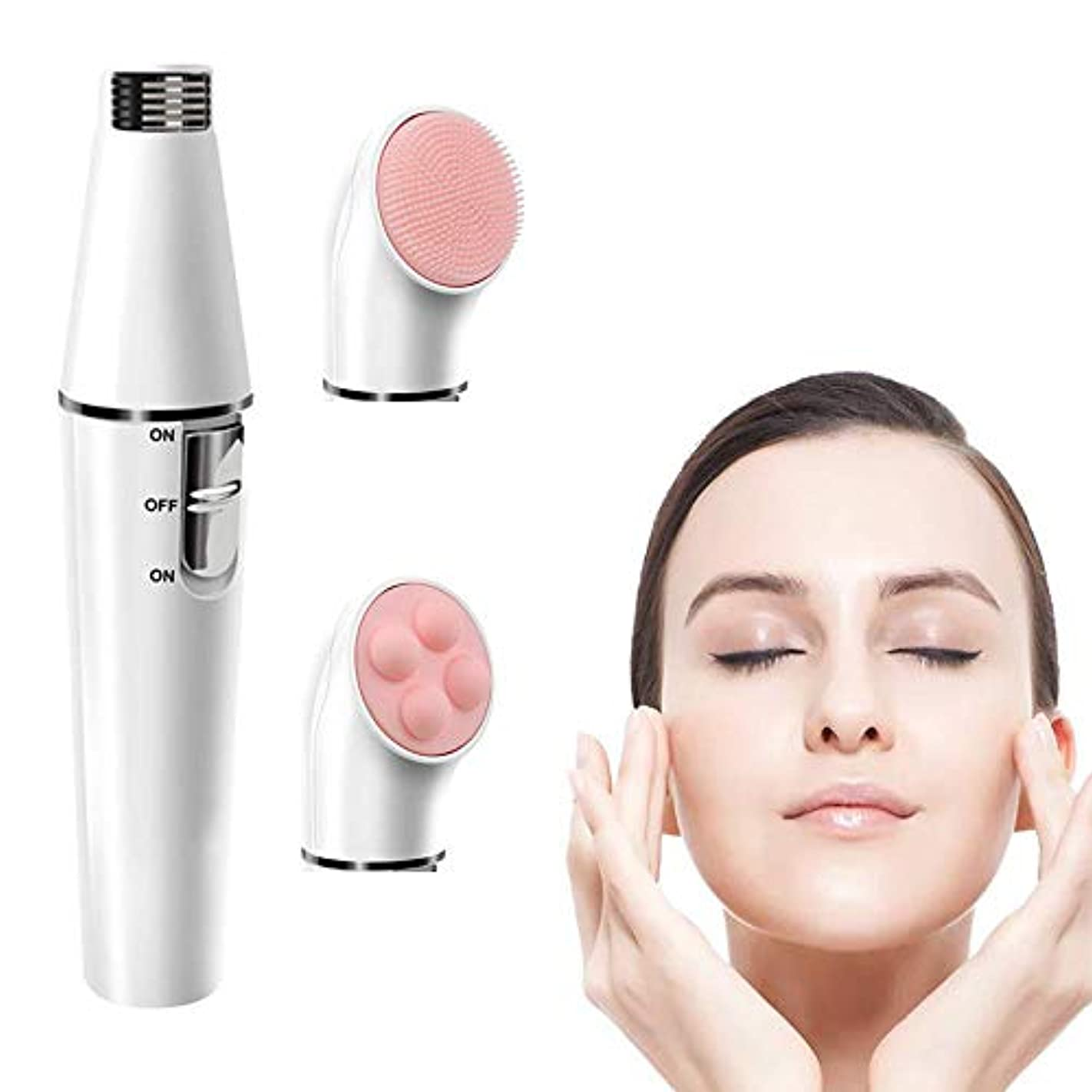 サンプル荒らす霊女性のための顔の脱毛剤、ホワイト/ブロンズ - 自宅でサロンの美しさのための3-1 - 顔の脱毛、クレンジング&スキントーニングシステム