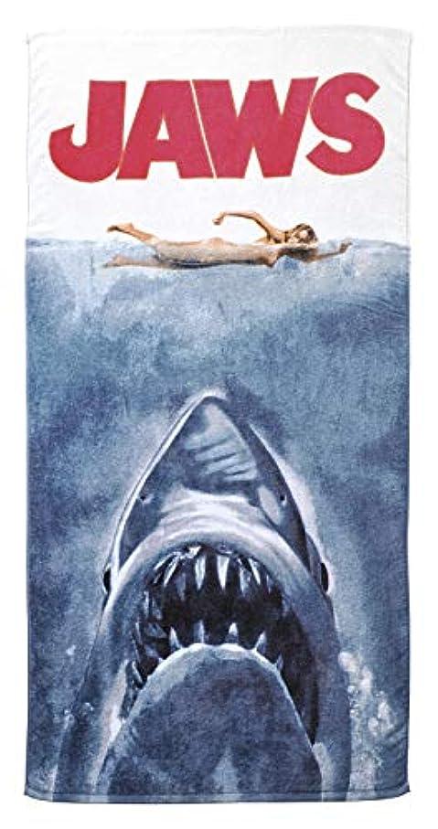 革命後者拍手する丸眞 バスタオル JAWS/ジョーズ 70×140cm ジョーズ パニック 綿100% 4985002000