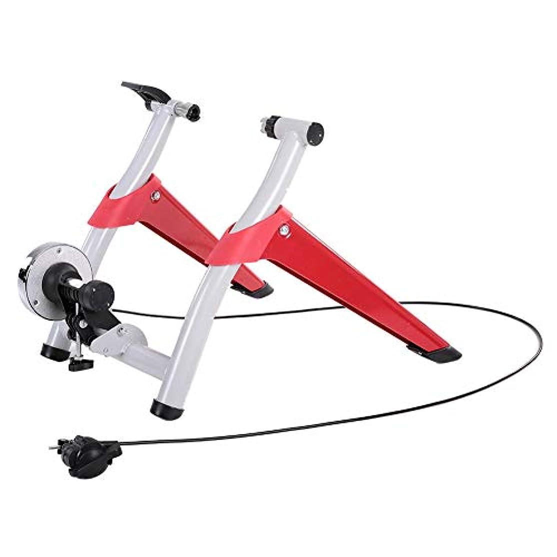 兵隊悪意のある建築バイクトレーナースタンド 屋内自転車のトレーナーの運動機械はロードバイクのマウンテンバイクの乗馬の訓練のために適しています,Red