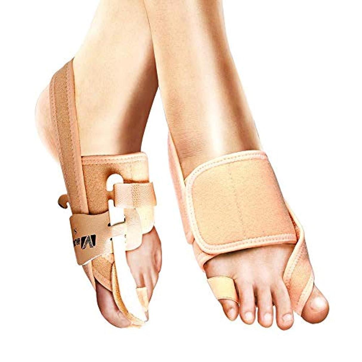 ジーンズ世界の窓デュアル外反母for用の足の親指の矯正、男性と女性用の昼と夜のキット、痛みを和らげるジェルつま先セパレータ,RightFoot-22-24cm