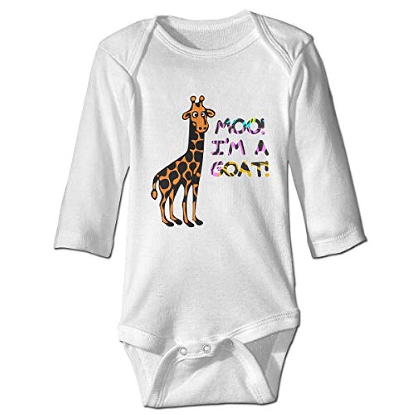 外国人衣服恩赦NMDJC CCQキリンムー、私はヤギの赤ちゃんボディスーツかわいいワンシー長袖衣装コスチューム、18 M