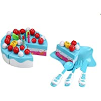 elevin ( TM ) 1セット63pc Cutting Fruit Cakeごっこ遊び子供キッズ男の子女の子教育クリスマスギフト