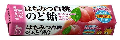 ノーベル はちみつ白桃のど飴 スティック 10粒×10個...