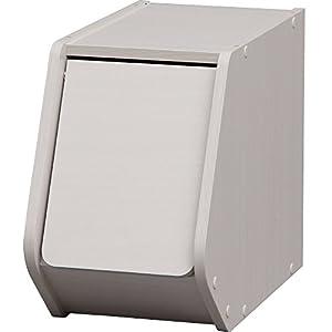 アイリスオーヤマ スタック ボックス 扉付き 幅20×奥行38.8×高さ30.5cm オフホワイト STB-200D