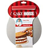Cake Boss Cake Lifter Stainless Steel Cake Lifter, Red, 555210