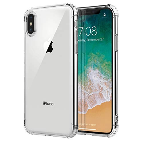 iPhone X/iPhone Xs ケース クリアケース TPU超薄型ケース ストラップホール付き全面保護カバー 耐衝撃iPhone10 ケース