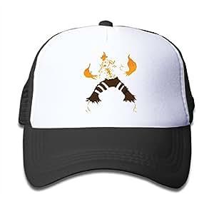 男の子の女の子のブランド燃焼の復讐の火メッシュの帽子調整可能