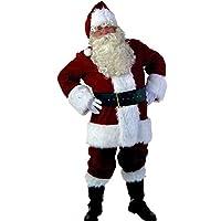 【 サイズ選べる 】monoii サンタ コスプレ 衣装 10点セット サンタコス サンタクロース 仮装 コスチューム メンズ 587