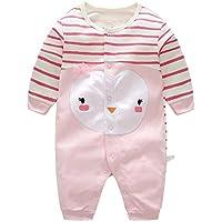 feb9cacda0241 エルフ ベビー(Fairy Baby)新生児服 カバーオールロンパース 前開き 長袖 春秋用 ピンク