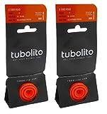 Tubolito S-Tubo ロードチューブ 700c 仏式バルブ (700×18/28mm(バルブ長42mm), 2本セット) [並行輸入品]
