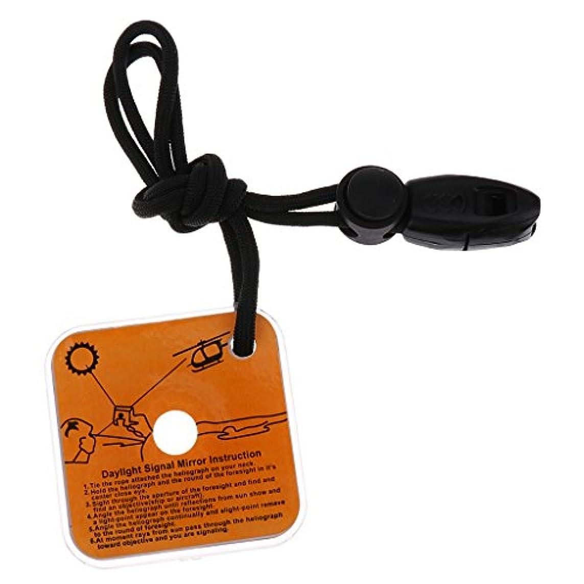 落ち込んでいる整然とした独立した笛が付いている屋外の緊急の存続信号ミラー