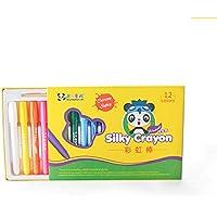 YONGJUN 絹のようなクレヨン - 24色ウォッシャブル回転非毒性3??イン1効果(クレヨン - パステル - 水彩);子供のための着色ギフト;アートツール。スリッククレヨン;ビッグサイズ ( UnitCount : 12 )