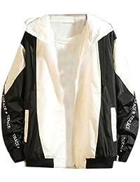 chenshiba-JP メンズファッションロングスリーブルーズパーカージャケットコートウインドブレーカー