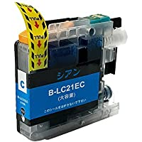 LC21eC 単品 ブラザー(brother)用互換インクカートリッジ ICチップ付 残量表示機能付 (LC21e)