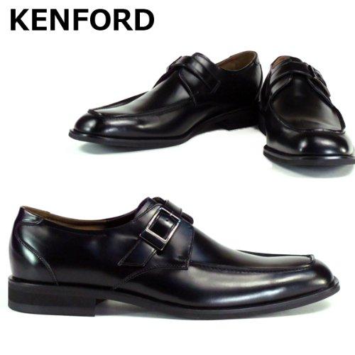 KM07AJ メンズ ビジネスシューズ モンクストラップ EEE(3E) ブラック ケンフォード
