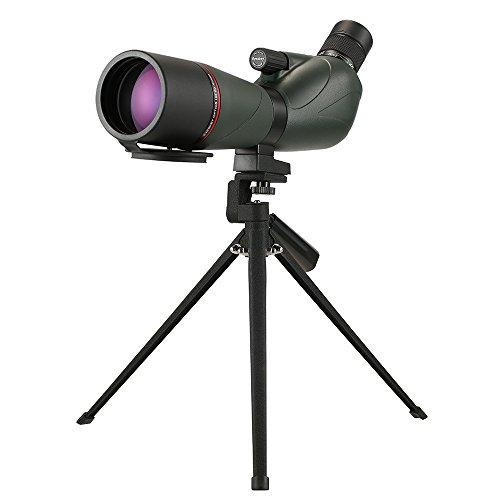 Lixada Eyeskey 20-60x60 スポッティングスコープ 単眼望遠鏡 ポータブル BaK4防水 三脚 キャリーケース付き トラベル バードウォッチング キャンプバックパッキング用