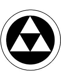 家紋シール 張り紋 黒紋付用 nkp 日向紋 3.9cm 6枚組 丸に三つ鱗