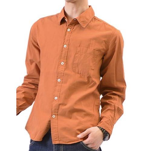 (ハイクオリティプロダクト)High quality product シャツ メンズ 長袖 長袖シャツ おしゃれ 無地 白 大きいサイズ ブロードシャツ XL ブリック