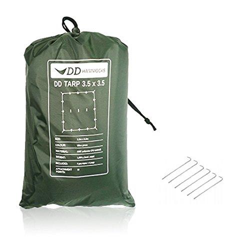 DD Tarp 3.5 x 3.5 Olive Green & 6 x 9