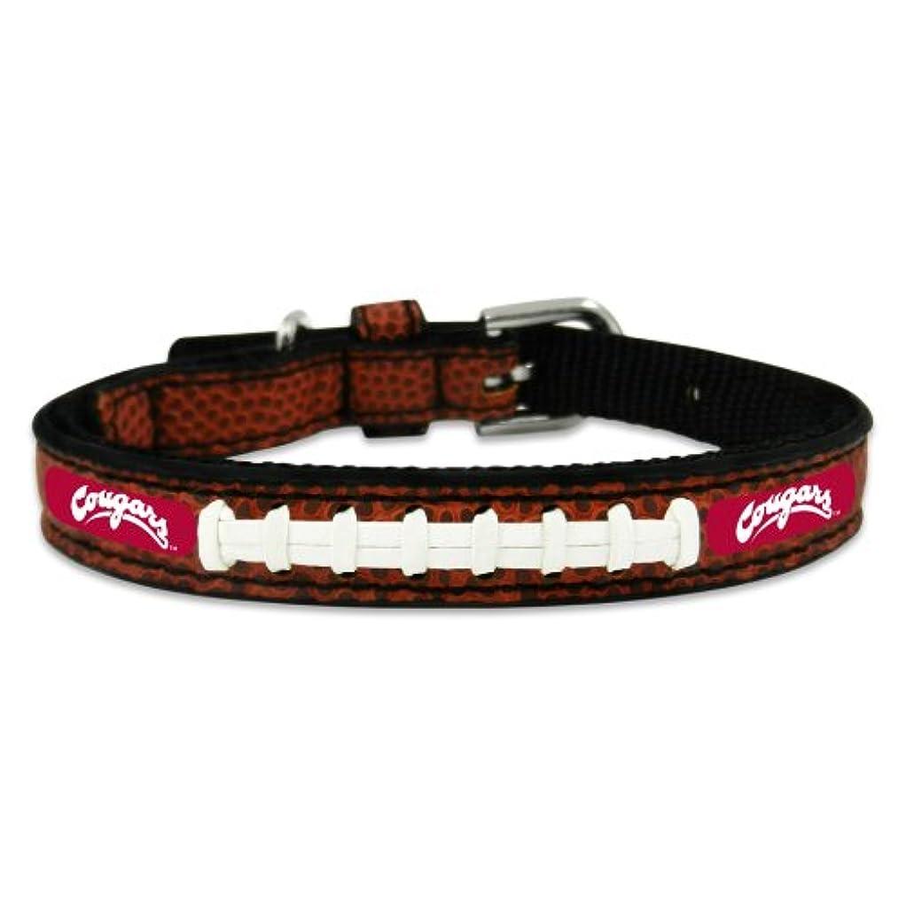 考古学的なお客様私たちWashington State Cougars Classic Leather Toy Football Collar